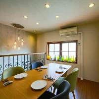 1階はカウンター6席、2階はテーブル席4~10名様まで。