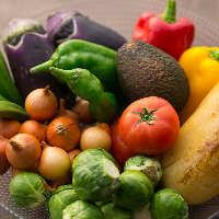 《日替り旬野菜》 炭火焼や天ぷらなど、お好みでご賞味ください