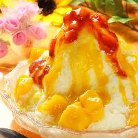 デザートにはカキ氷やアイス、タピオカドリンクもございます!