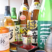 日本酒検定を取った店長が選ぶ地酒をはじめとした日本酒の数々