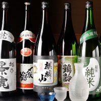 各地域の美味い日本酒を多数取り揃えております♪
